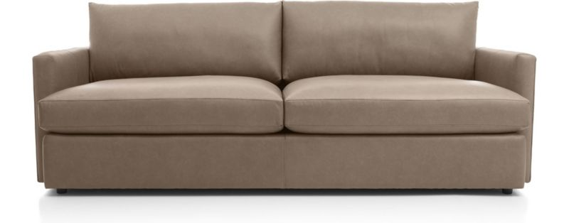 """Lounge Ii Leather 93"""" Sofa by Crate&Barrel"""