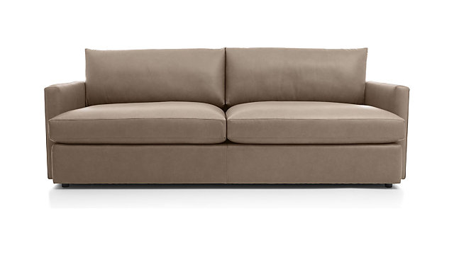 "Lounge II Leather 93"" Sofa shown in Lavista, Smoke"