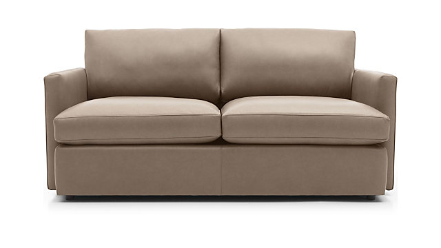 Lounge II Leather Apartment Sofa shown in Lavista, Smoke