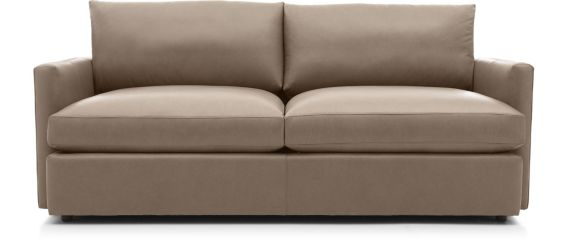 "Lounge II Petite Leather 83"" Sofa shown in Lavista, Smoke"