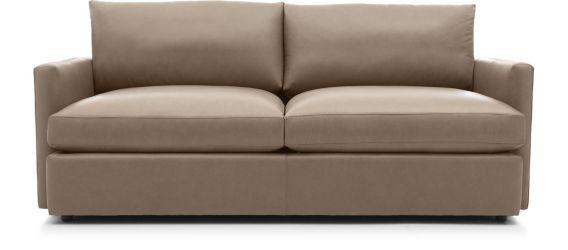"""Lounge II Petite Leather 83"""" Sofa shown in Lavista, Smoke"""