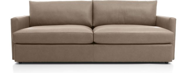 "Lounge II Petite Leather 93"" Sofa shown in Lavista, Smoke"