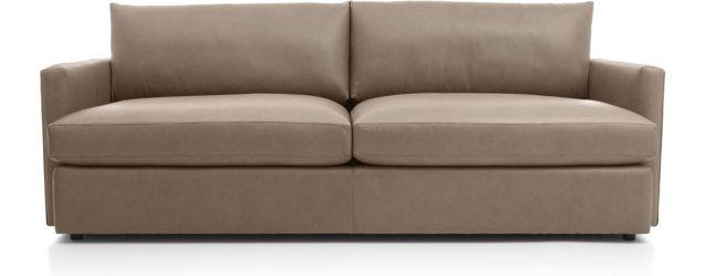 """Lounge II Petite Leather 93"""" Sofa shown in Lavista, Smoke"""