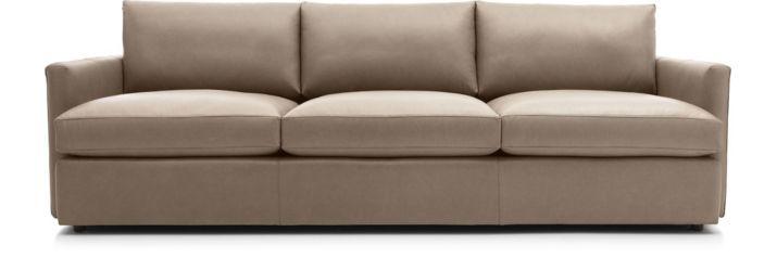 """Lounge II Petite Leather 3-Seat 105"""" Grande Sofa shown in Lavista, Smoke"""