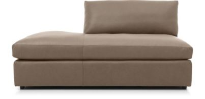 Lounge II Petite Leather Left Bumper shown in Lavista, Smoke