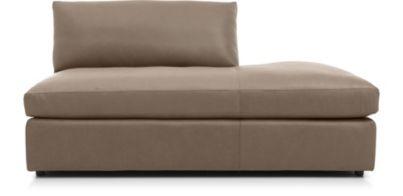 Lounge II Petite Leather Right Bumper shown in Lavista, Smoke