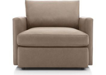 Lounge II Petite Leather Chair shown in Lavista, Smoke