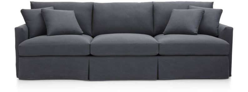 "Lounge II Slipcovered 3-Seat 105"" Grande Sofa shown in Denim, Twilight"