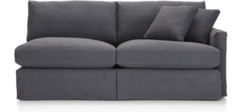 Lounge II Slipcovered Right Arm Sofa shown in Denim, Twilight
