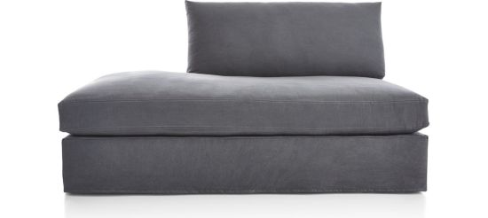 Lounge II Slipcovered Left  Bumper shown in Denim, Twilight