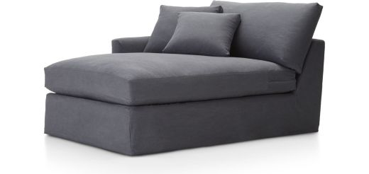Lounge II Slipcovered Left Arm Chaise shown in Denim, Twilight