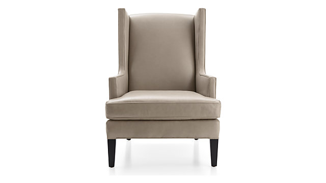 Luxe Leather High Wing Back Chair