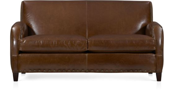 Metropole Leather Loveseat shown in Brompton, Vintage