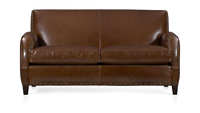 Metropole Leather Loveseat shown in Brompton, Vintage