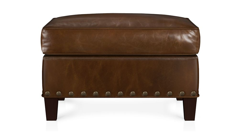 Metropole Leather Ottoman - Image 2 of 2