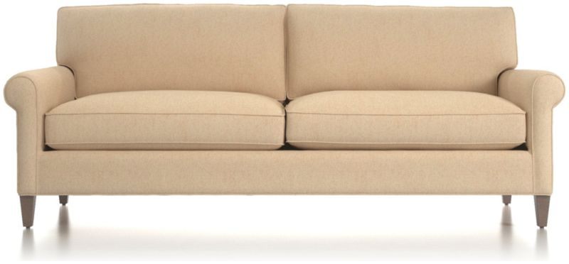 Charming TAP TO ZOOM Montclair 2 Seat Roll Arm Sofa Shown In Duet, Natural