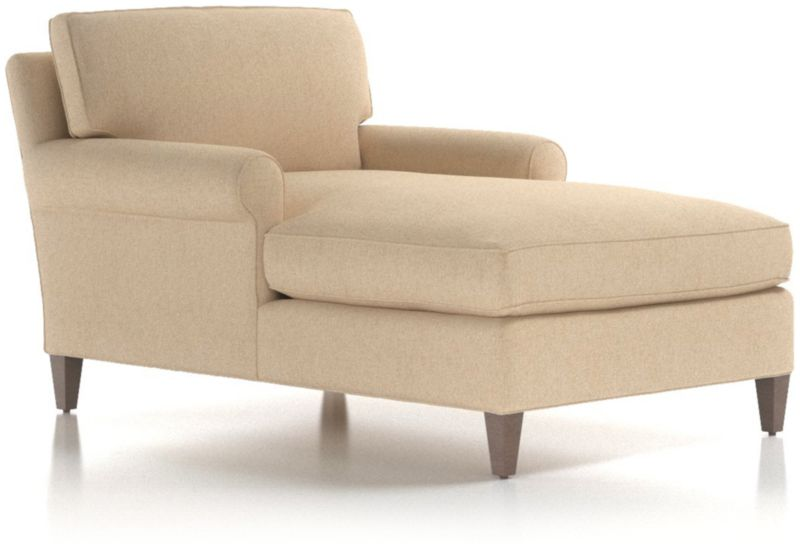 Montclair Roll Arm Chaise Lounge Reviews Crate And Barrel