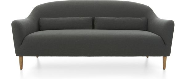 Pennie Sofa shown in Lindy, Charcoal