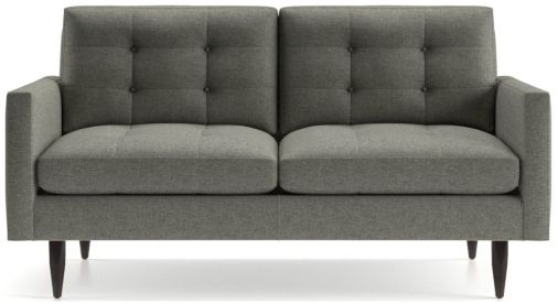 Petrie Loveseat shown in Jonas, Felt Grey