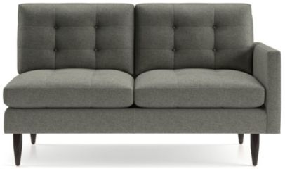 Petrie Right Arm Midcentury Loveseat shown in Jonas, Felt Grey