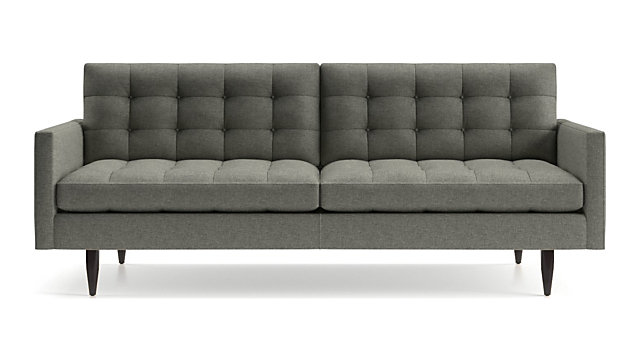 Petrie Midcentury Sofa shown in Jonas, Felt Grey