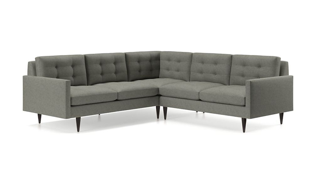 Petrie 2-Piece Corner Midcentury Sectional Sofa - Image 2 of 4