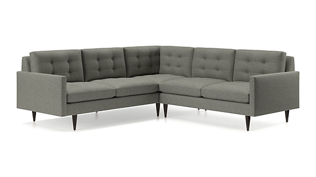 Tap To Zoom Petrie 2 Piece Corner Midcentury Sectional Sofa Left Arm Right