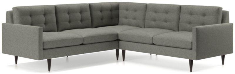 TAP TO ZOOM Petrie 2 Piece Corner Midcentury Sectional Sofa (Left Arm  Corner Sofa, Right Arm