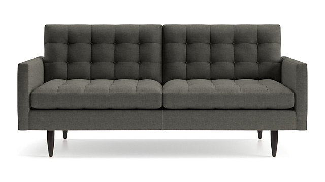 Petrie Midcentury Apartment Sofa shown in Jonas, Charcoal