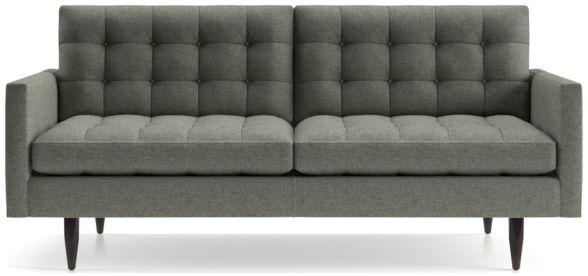 Petrie Midcentury Apartment Sofa shown in Jonas, Felt Grey