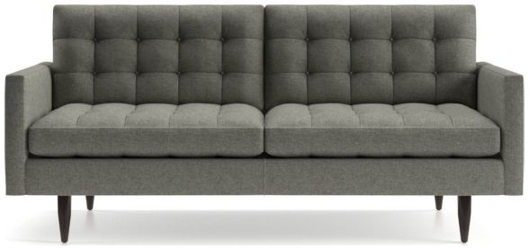 Petrie Midcentury Apartment Sofa shown in Jonas, Felt Grey
