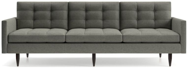 "Petrie 100"" Grande Midcentury Sofa shown in Jonas, Felt Grey"