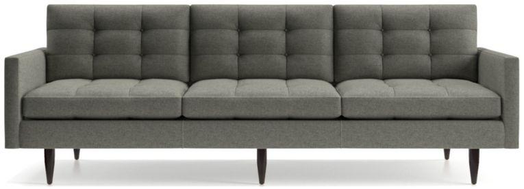 "Petrie 100"" Grande Midcentury Sofa shown in Jonas, Felt Grey"