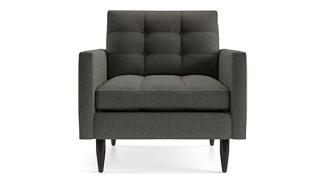 Petrie Midcentury Chair shown in Jonas, Charcoal