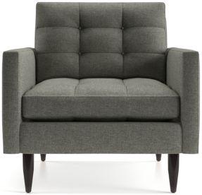 Petrie Midcentury Chair shown in Jonas, Felt Grey