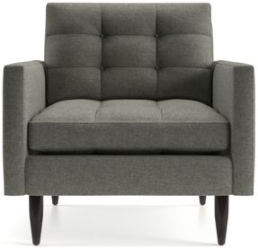 Petrie Midcentury Chair shown in Jonas, Felt Grey