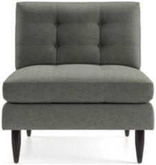 Petrie Midcentury Armless Chair shown in Jonas, Felt Grey