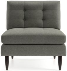 Petrie Midcentury Armless Chair shown in Jonas, Felt Grey