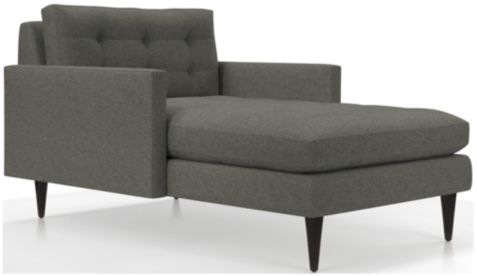 Petrie Midcentury Chaise Lounge shown in Jonas, Felt Grey