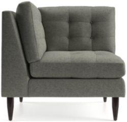 Petrie Midcentury Corner Chair shown in Jonas, Felt Grey