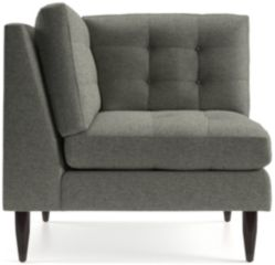 Petrie Midcentury Corner Chair shown in Jonas, Felt Grey