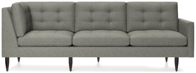Petrie Midcentury Right Arm Corner Sofa shown in Jonas, Felt Grey