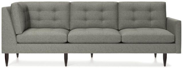 Petrie Midcentury Right Arm Corner Sofa shown in Jonas, Felt Grey
