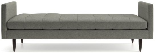 Petrie Midcentury Daybed shown in Jonas, Felt Grey