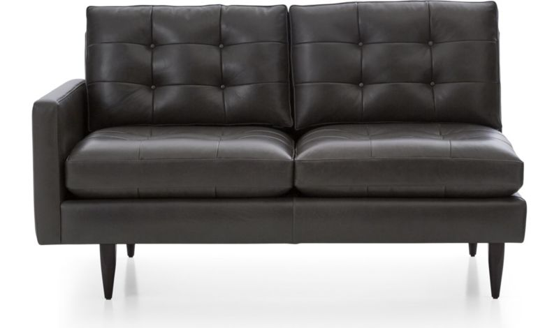Petrie Leather Left Arm Loveseat  sc 1 st  Crate and Barrel : crate and barrel petrie sectional - Sectionals, Sofas & Couches