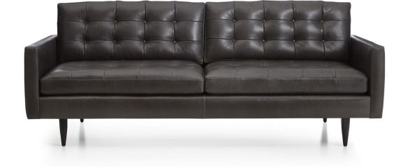 Petrie Leather Sofa shown in Laval, Carbon