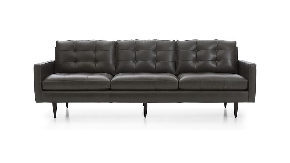 ... Petrie Leather 100  Grande ...  sc 1 st  Crate and Barrel : crate and barrel petrie sectional - Sectionals, Sofas & Couches
