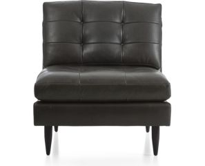 Petrie Leather Midcentury Armless Chair shown in Laval, Carbon