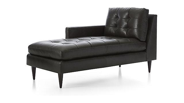 Left Arm Midcentury Chaise Lounge