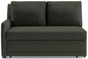 Reston Left Arm Loveseat Trundle Sleeper Sofa shown in Curious, Charcoal